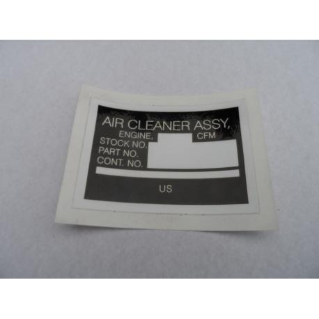 sticker airfilter M800/M900