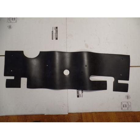Baffle, frame, radiator