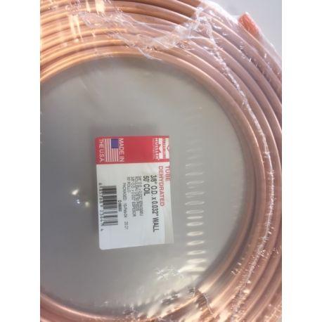 Copper air brake tube 3/8 ca 15 m.
