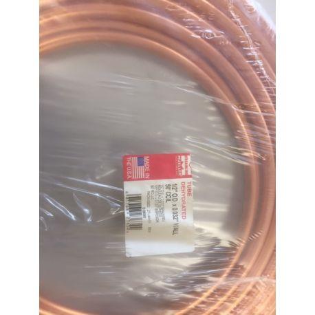 Copper air brake tube 1/2 ca 15 m.
